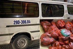 Vận chuyển 850 kg sản phẩm động vật hôi thối từ Hà Nội vào Nghệ An tiêu thụ