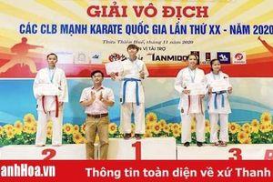 Thanh Hóa giành 7 huy chương tại Giải vô địch các CLB mạnh Karate quốc gia