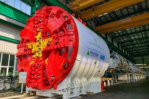 Cận cảnh cỗ máy đào hầm Metro Nhổn-ga Hà Nội nặng nghìn tấn mới