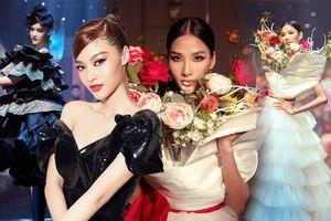 Hoàng Thùy mặc váy rừng hoa diễn Vedette, Kiều Loan đẹp sắc sảo trên sàn runway