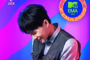 Jack xúc động cám ơn fan khi nhận giải Nghệ sĩ Đông Nam Á xuất sắc nhất MTV EMA 2020