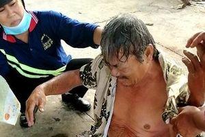 Cẩu pin năng lượng mặt trời, một người đàn ông bị bỏng nặng