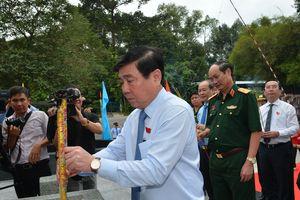Khánh thành Bia tưởng niệm các anh hùng liệt sĩ nữ du kích Củ Chi