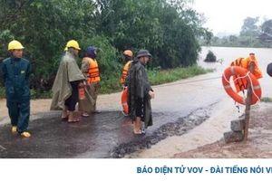 Mưa kéo dài từ tối qua, nhiều vùng ở Đăk Lăk bị ngập lụt