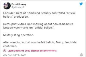 Bầu cử Mỹ: Sự thật tin phát hiện đảng Dân chủ 'tuồn' phiếu giả, ông Trump huy động quân đội