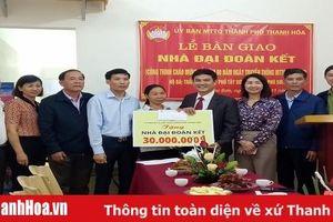 Ủy ban MTTQ thành phố Thanh Hóa bàn giao Nhà đại đoàn kết cho hộ nghèo