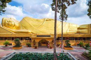 Chùa ở Trà Vinh có tượng Phật Nằm dài 54 m