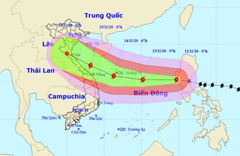 Bão Vamco vào Biển Đông, trở thành cơn bão số 13