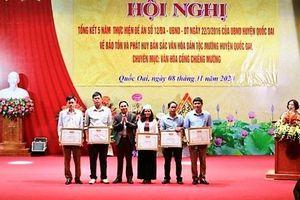 Huyện Quốc Oai: Giữ gìn và phát huy bản sắc văn hóa dân tộc Mường