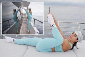 Bạn gái Ronaldo khoe dáng táo bạo trên du thuyền