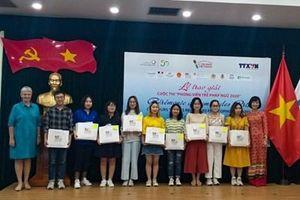 Trao giải Cuộc thi 'Phóng viên trẻ Pháp ngữ 2020'