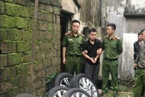 Khởi tố nam thanh niên tháo trộm hàng loạt bánh xe ô tô