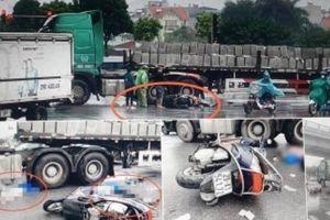Hà Nội: Hai người tử vong tại chỗ sau va chạm xe đầu kéo gần cầu Vĩnh Tuy