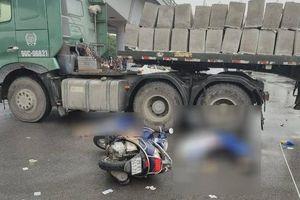 Hai nạn nhân tử vong thương tâm sau va chạm xe đầu kéo ở Aeon Long Biên là mẹ con