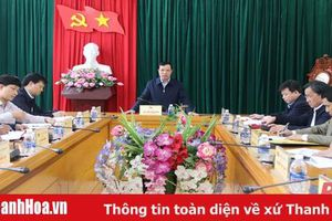 Phó Bí thư Thường Trực Tỉnh ủy Lại Thế Nguyên làm việc với Ban Thường vụ Huyện ủy Mường Lát