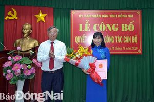 Bổ nhiệm bà Nguyễn Thị Thu Hiền, Trưởng ban Văn hóa - xã hội HĐND tỉnh giữ chức vụ Giám đốc Sở LĐTB-XH