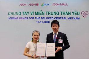 Tập đoàn AEON ủng hộ 1,6 tỷ đồng cho người dân miền Trung