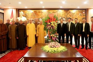 Giáo hội Phật giáo Việt Nam thành phố chúc mừng thành công Đại hội XVII Đảng bộ thành phố Hà Nội