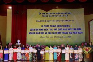Quận Hoàng Mai (Hà Nội) tuyên dương các nhà giáo mẫu mực, tiêu biểu