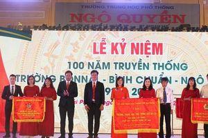 Thứ trưởng Nguyễn Hữu Độ dự Lễ kỷ niệm 100 năm thành lập Trường THPT Ngô Quyền