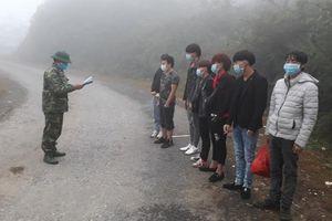 Phát hiện, cách ly 12 công dân nhập cảnh trái phép qua biên giới Hà Giang