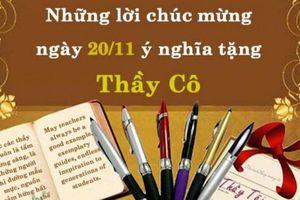 Lời chúc 20/11 ngắn gọn ý nghĩa hay nhất dành tặng thầy cô giáo