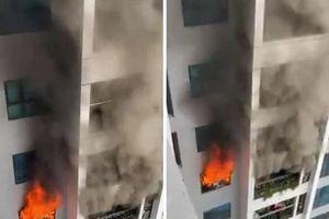 Hà Nội: Nấu bếp gas gây cháy tại Chung cư Goldmark City