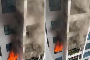 Cháy chung cư TNR Goldmark City do nhân viên đun bếp gas công nghiệp