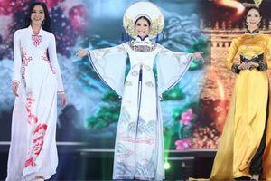 Top 35 khoe đường cong thể hình với áo dài tại Chung kết Hoa hậu Việt Nam 2020