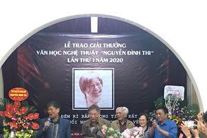 Trao tặng Giải thưởng Văn học Nghệ thuật Nguyễn Đình Thi lần thứ nhất năm 2020