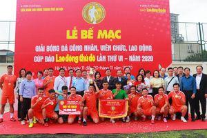 Đội Liên đoàn Lao động quận Cầu Giấy giành Cúp Báo Lao động Thủ đô 2020
