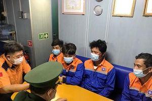 Tàu CAPE FARO cứu 4 thuyền viên bị nạn trên biển Vũng Tàu vào bờ an toàn