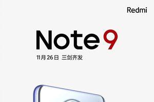 Redmi Note 9 5G smartphone có camera 108MP rẻ nhất ra mắt ngày 26/11