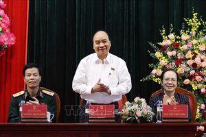 Thủ tướng Nguyễn Xuân Phúc tiếp xúc cử tri tại huyện An Lão, Hải Phòng