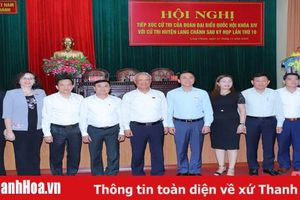 Đại biểu Quốc hội tiếp xúc cử tri huyện Lang Chánh