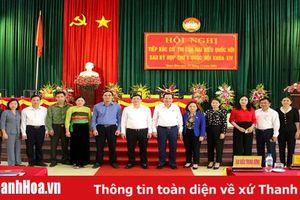 Bộ trưởng Bộ Lao động - Thương binh và Xã hội Đào Ngọc Dung tiếp xúc cử tri các huyện Quan Hóa và Ngọc Lặc