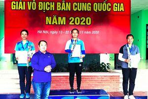 Quảng Ninh giành 6 huy chương tại Giải Vô địch bắn cung Quốc gia