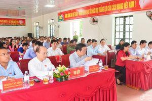 Bí thư Trung ương Đảng Phan Đình Trạc tiếp xúc cử tri huyện Nghĩa Đàn