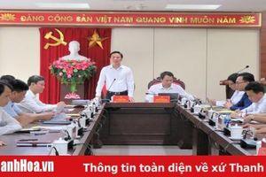 Đoàn công tác Bộ Thông tin và Truyền thông làm việc với Ban Thường vụ Thành ủy TP Thanh Hóa