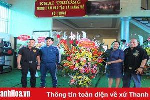Khai trương Trung tâm đào tạo tài năng trẻ võ thuật tại huyện Hà Trung