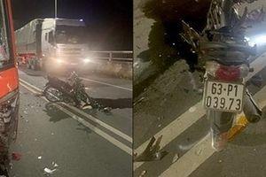 Xe khách va chạm xe máy, một người tử vong tại chỗ