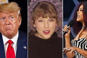 Tôn vinh Taylor Swift nhưng MC giải thưởng AMAs vẫn tranh thủ 'xỏ xiên' Tổng thống Trump
