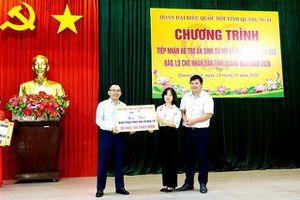 Quảng Ngãi tiếp nhận 7,2 tỷ đồng hỗ trợ an sinh xã hội