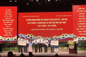 Thành phố Hồ Chí Minh đón nhận bằng xếp hạng di tích lịch sử - văn hóa quốc gia