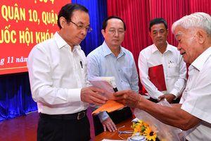 Bí thư Thành ủy TPHCM Nguyễn Văn Nên tiếp xúc cử tri