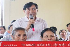 Đoàn ĐBQH và HĐND tỉnh Hà Tĩnh tiếp xúc cử tri tại thị xã Kỳ Anh, Thạch Hà