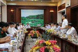 Đoàn Công tác của Ban chỉ đạo Quốc gia về phòng, chống dịch COVID-19 làm việc tại Long An
