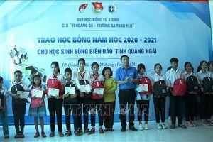 Trao 160 suất học bổng cho học sinh có hoàn cảnh khó khăn tỉnh Quảng Ngãi