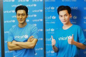 Ali Hoàng Dương cùng Choi Siwon (Super Junior) tham gia chiến dịch cộng đồng của UNICEF