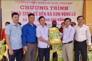 Công ty CP than Vàng Danh ủng hộ người dân bị thiệt hại do mưa lũ tại Quảng Trị
